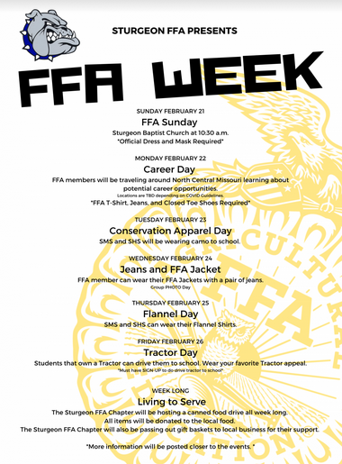 FFA Activities for HS
