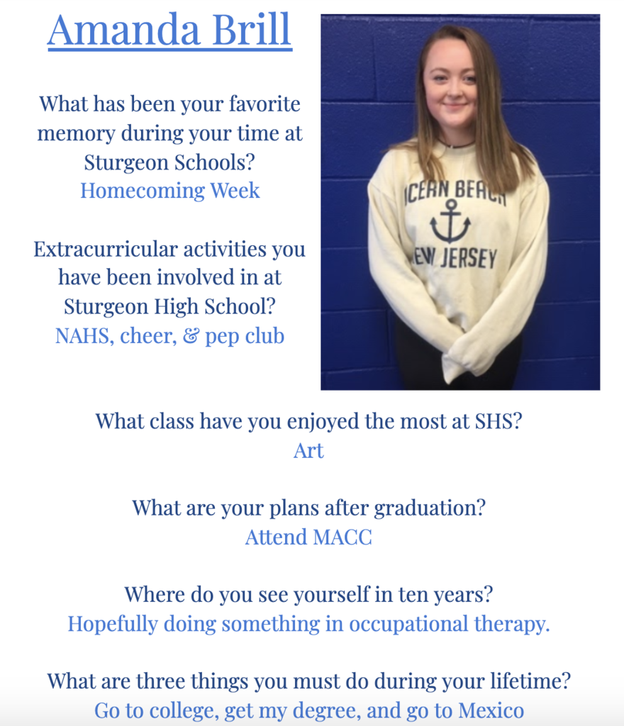 Amanda Senior Spotlight