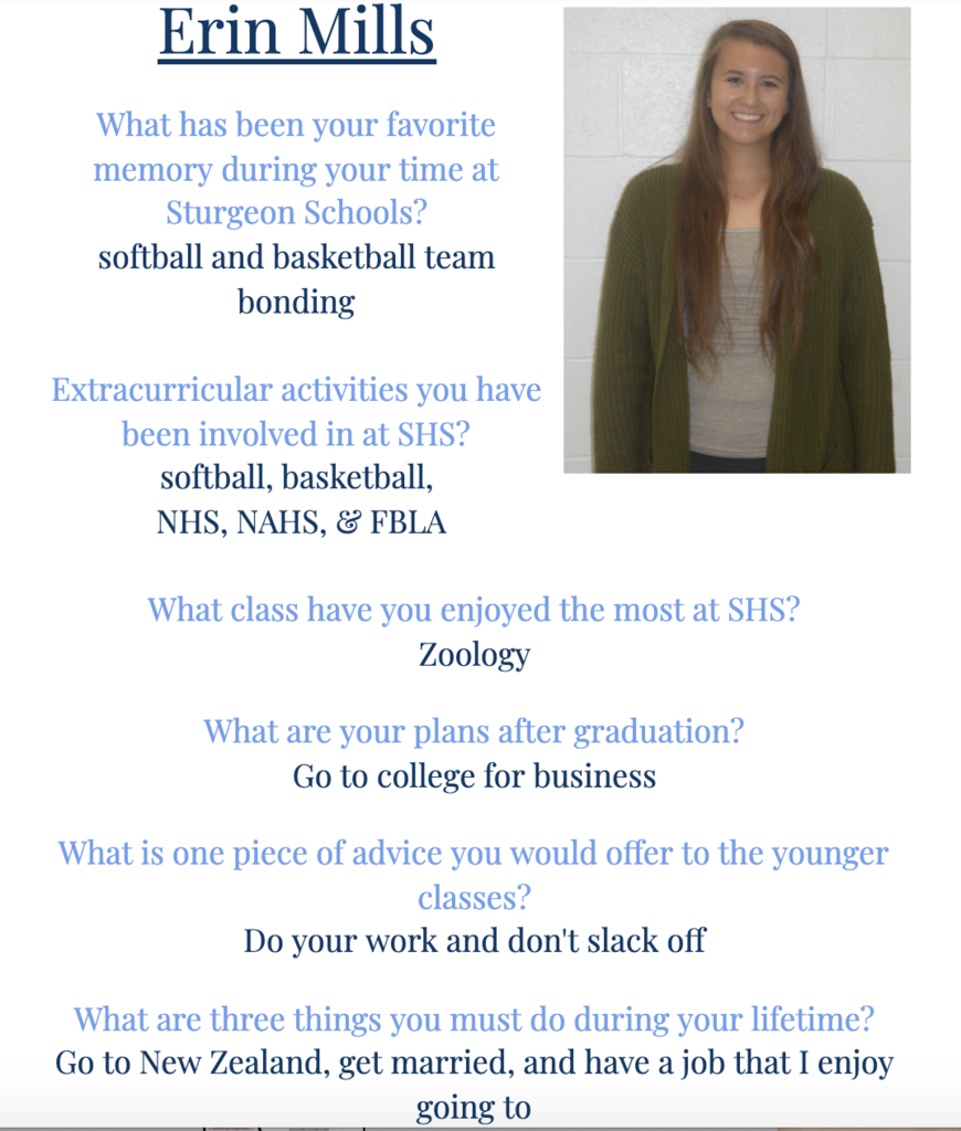 Erin Senior Spotlight