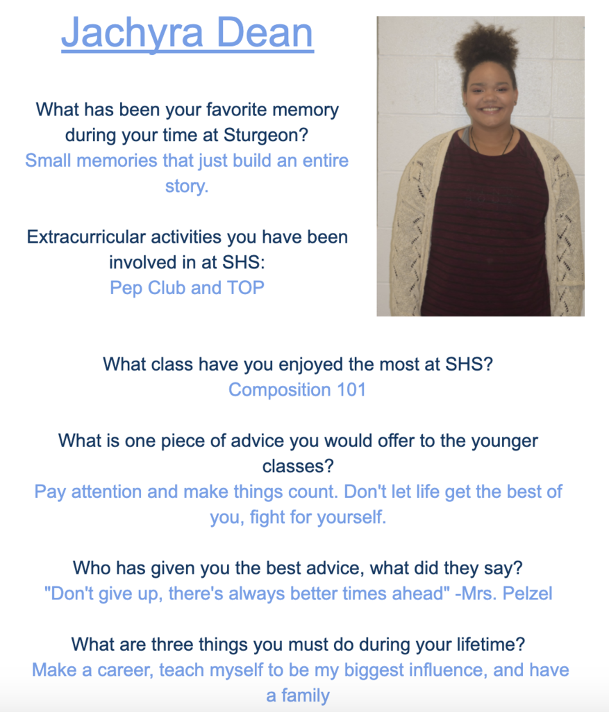 Jachyra Senior Spotlight