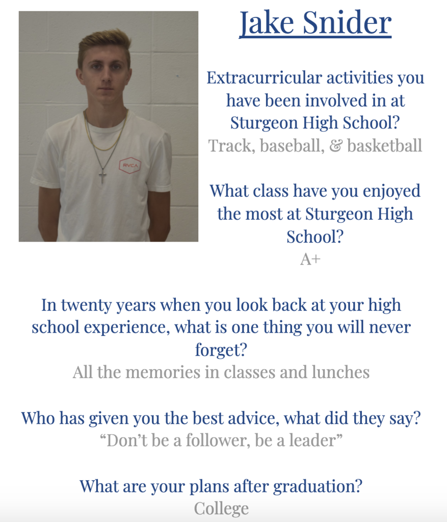 Jake Senior Spotlight