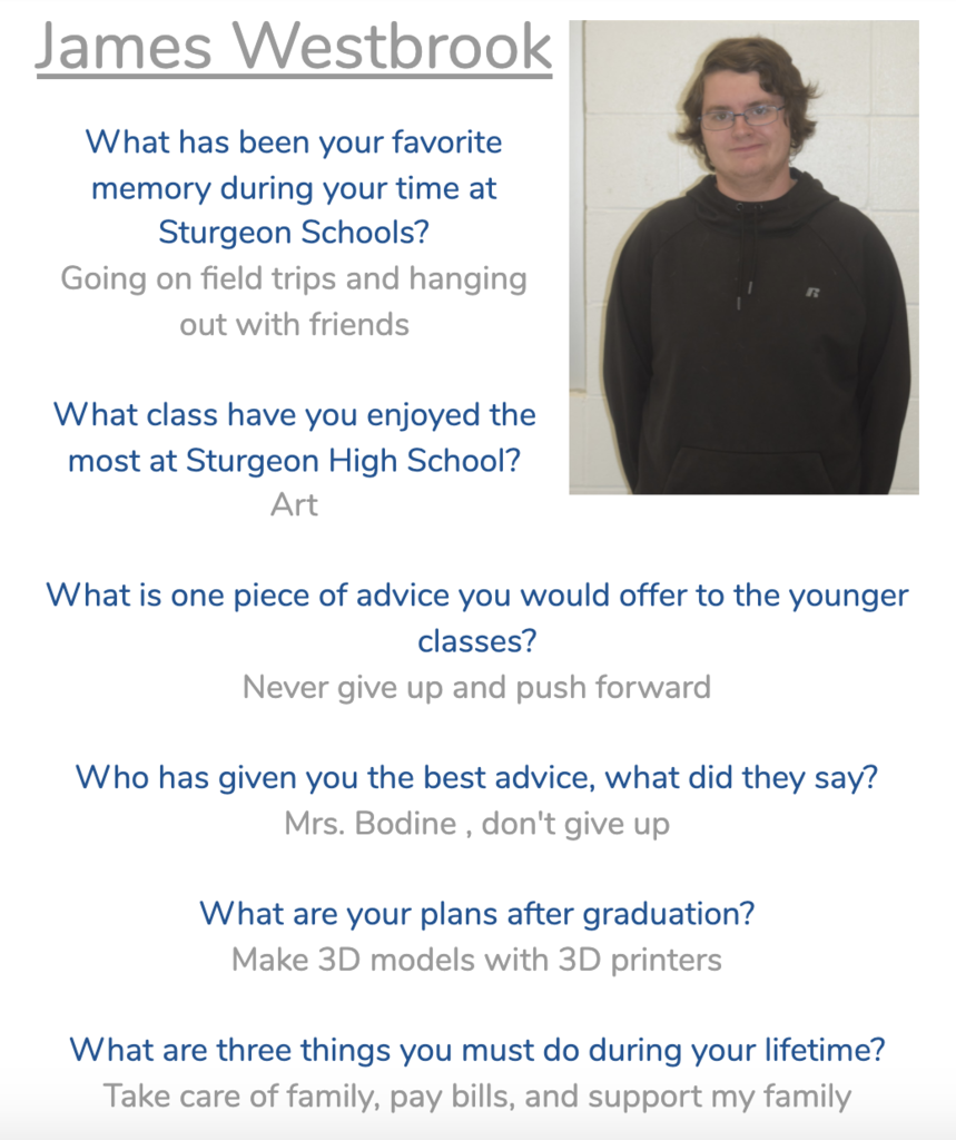 James Senior Spotlight