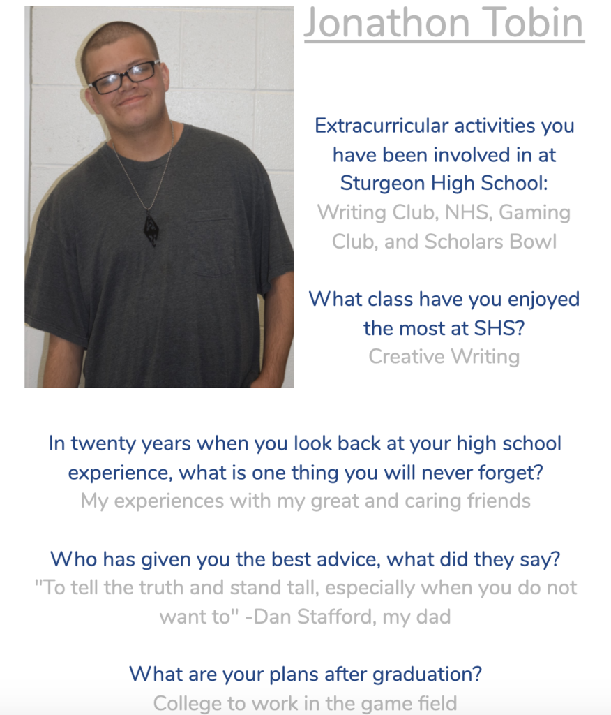 Jonathon Senior Spotlight