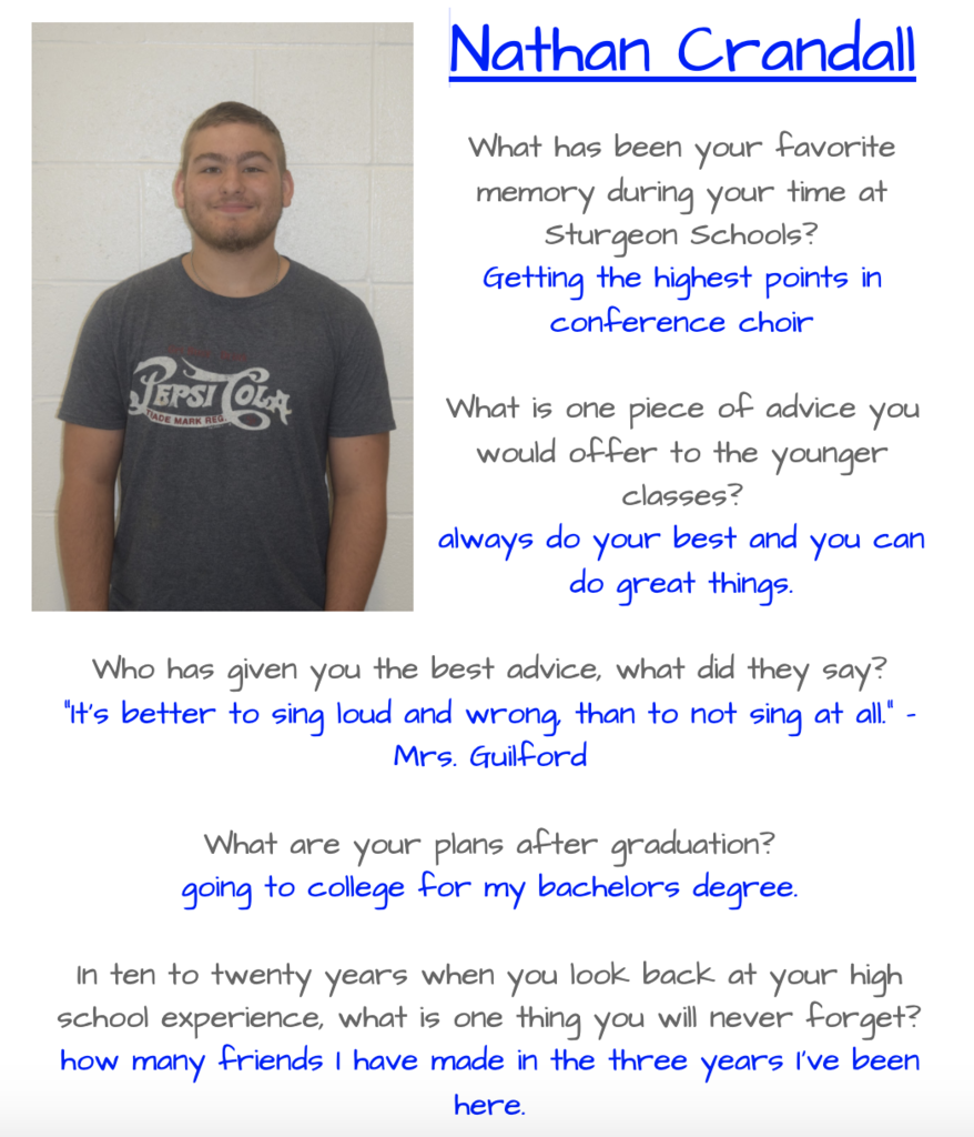 Nathan Senior Spotlight