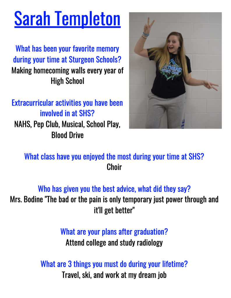 Sarah Senior Spotlight